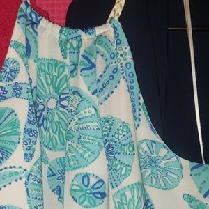 Lilly Pulitzer blouse,  lined seashell print L